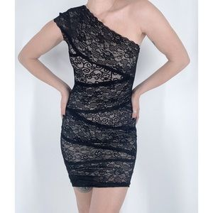 3 for $25 Poof Couture Asymmetrical Lace Dress